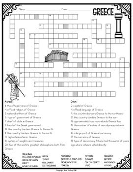 Greece Crossword