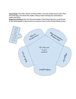 Greece Interactive Notebook Foldables