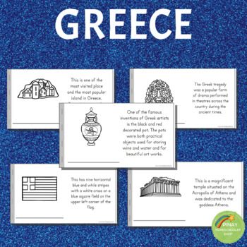 Greece Learning Pack: Reading Materials, Activity Pages and Cards
