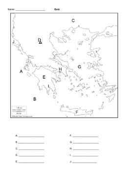 Greece Map Quiz