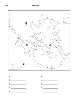Greece Map Quiz by Venablehistory | Teachers Pay Teachers