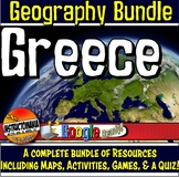 Greece Physical Geography Lesson & Activity Mini Bundle Go