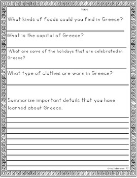 Greece Reading Passages
