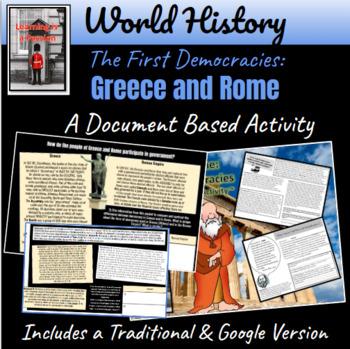 Greece & Rome: Origin of Democracy ~ A Document Based Activity ~