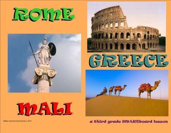 Greece, Rome, and Mali - A Third Grade SMARTboard Introduction