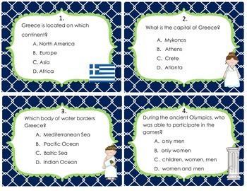 Greece Task Cards/Scoot