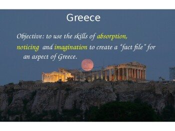Greece Topic Unit Ancient and Modern 7 Powerpoints Worksheets Information