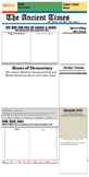 Greece and Rome Compare and Contrast Newspaper Template