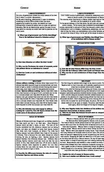 Greece and Rome Comparison Document handout
