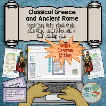 Greece and Rome Interactive Vocabulary For Google Classroom and OneDrive
