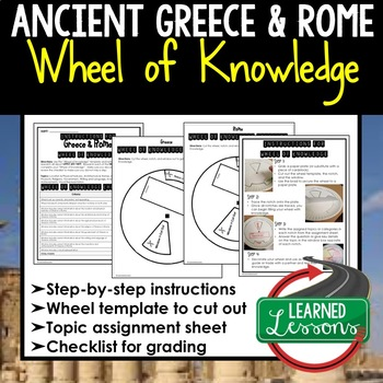 Greece and Rome Wheel of Knowledge Interactive Notebook Page (World History)