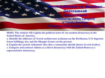 Greece's Influence on American Government Interactive FlipChart