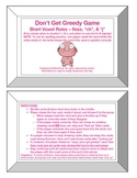 Greedy Game: Floss Rule, -tch/ch, -dge/ge -Orton Gillingha