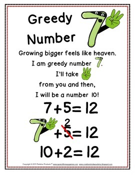 Greedy Numbers Addition Strategy for adding 7, 8, 9