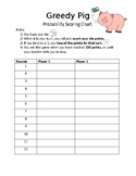Greedy Pig Probability Game for Elementary Students