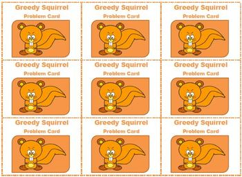 Greedy Squirrel Finds an Acorn: An Addition Matching Game
