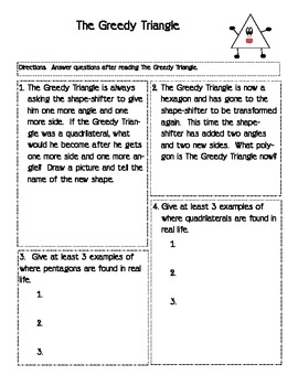 Greedy Triangle Worksheet