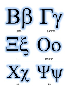 Greek Alphabet Banner