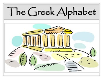Greek Alphabet Posters