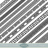 Greek Borders Clipart Ribbons Text Dividers Geometric Clip Art Scrapbooking
