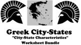 Greek City-State Characteristics UDL Worksheet Bundle