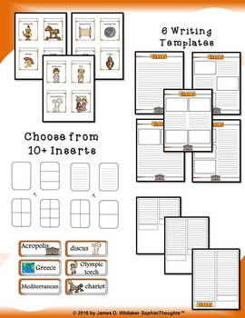 Greek Civilization Interactive Mini Research Fold-Ems and Activities