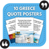 Greek Classroom Posters - 10 Greece Quotes for Foreign Language Bulletin Boards