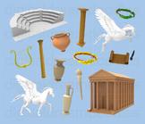 Greek Clipart - Ancient Greece Digital PNG Graphics