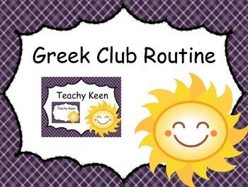 Greek Club: A Student-Led Literature Station