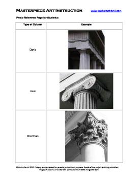 Greek Column Clay Project