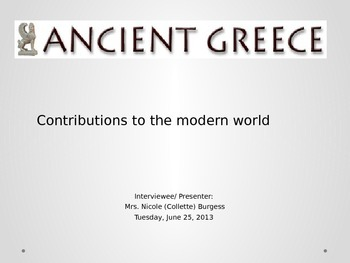 Greek Contributions to the Modern World