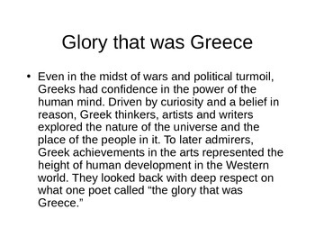 Greek Culture PowerPoint