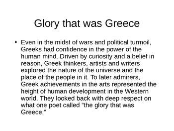 Greek Culture PowerPoint