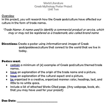 Greek Culture Research Project