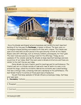 Greek Culture Spreads East: Greece by Don Nelson