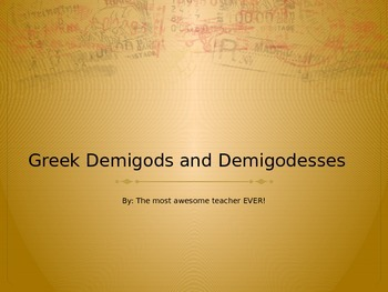 Greek Demigods and Demigoddesses