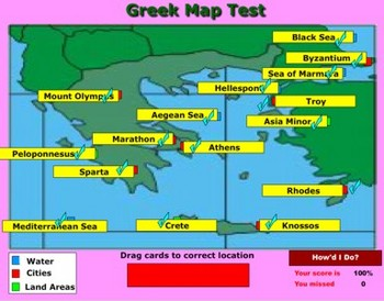 Greek Geography with Self Grading Test - Bill Burton