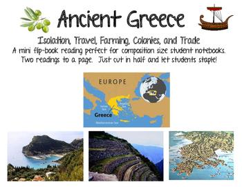 #smallbusinesssaturday Greek Geography Mini Flipbook