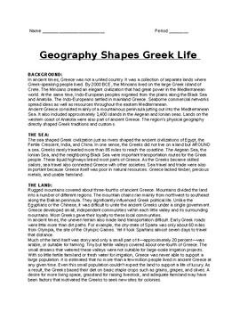 Greek Geography Lesson