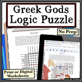 Greek Mythology Logic Puzzle - Greek Gods