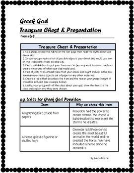 Greek God Treasure Chest & Presentation Grades 4-8