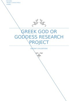 Greek God or Goddess Research Project