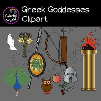 Greek Goddesses clipart