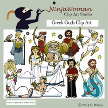 Greek Gods Clip Art