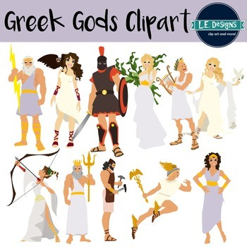 greek gods clipart by le designs teachers pay teachers rh teacherspayteachers com zeus greek god clipart zeus greek god clipart