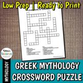 Greek Gods Crossword Puzzle - Greek Mythology