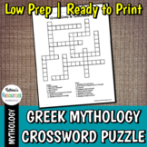 Greek Gods Crossword Puzzle