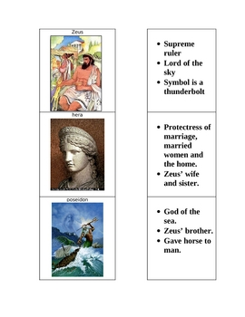Greek Gods Flash Cards