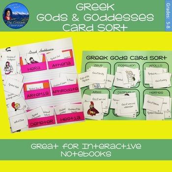 Greek Gods & Goddesses Card Sort