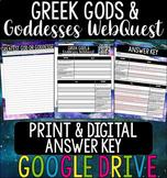 Greek Gods & Goddesses WebQuest